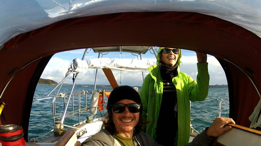 Kat and Seiorse leaving the New Zealand winter for Fiji. July 8, 2015