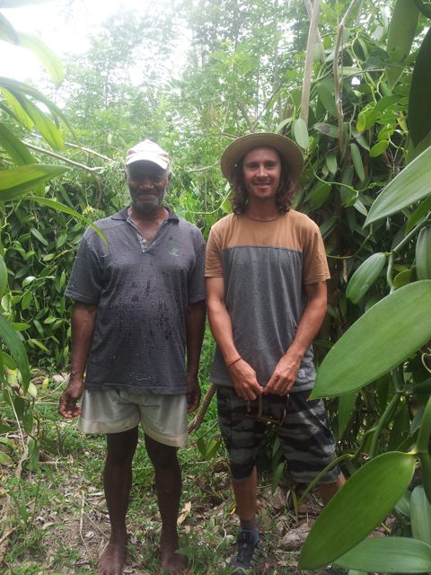 Seiorse with Vanuatu Vanilla Grower