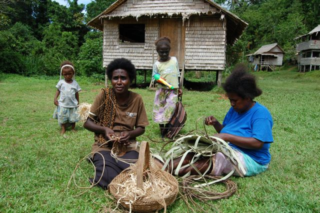 Basket Weaving Choiseul, Solomon Islands